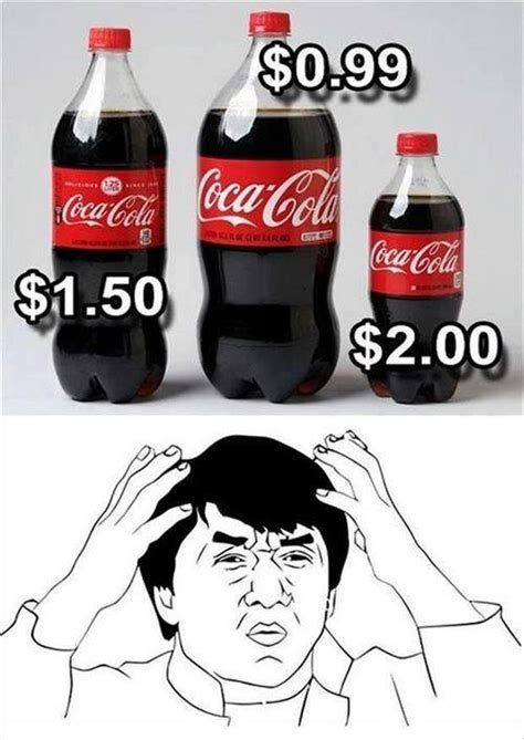 Funny Coke Meme - jackie chan meme doesn t understand the soda marketing
