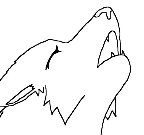 Simple Wolf Outline by Anime Wolf Lineart How To Draw Paws Enlarge Clipart Best Clipart Best