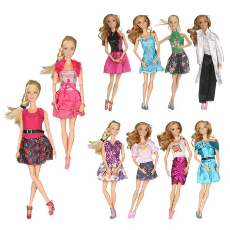 10x Kid Mini Dress Dolls Fashion Clothes Mixed Style For Pa promotion shop for promotional on