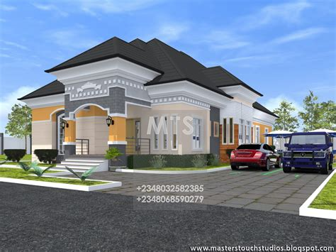four bedroom bungalow design mr caesar 4 bedroom bungalow residential homes and