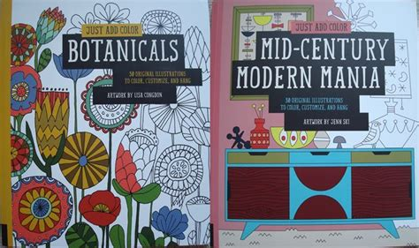 Just Add Color Mid Century Modern Mania Just Add Color Botanicals And Mid Century Modern Mania