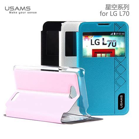 flipcase huanmin lg l70 usams lg l70 flip stand cover luxury leather starry