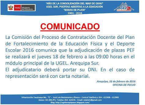 adjudicacipn de plazas pata el contrato docente 2016 jueves 18 de febrero adjudicaci 243 n de plazas de plan de