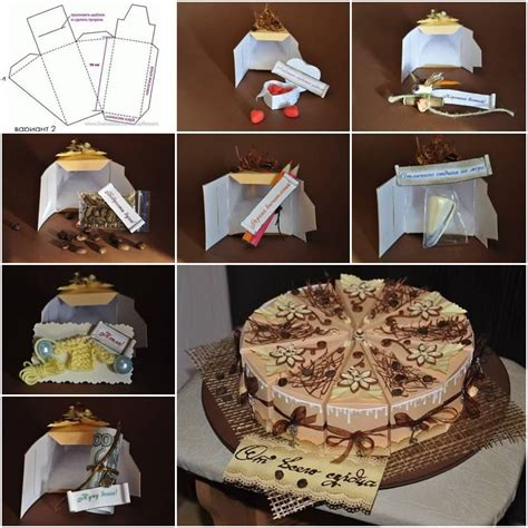 how to make a cake box template how to make cake gift box template step by step diy