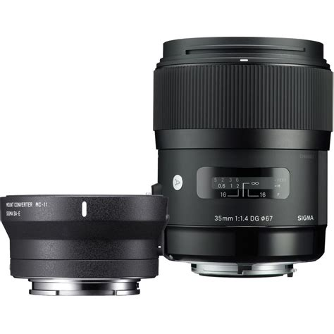 Sigma 35mm F 1 4 Dg Hsm Canon sigma 35mm f 1 4 dg hsm lens for canon ef and mc 11 zh954