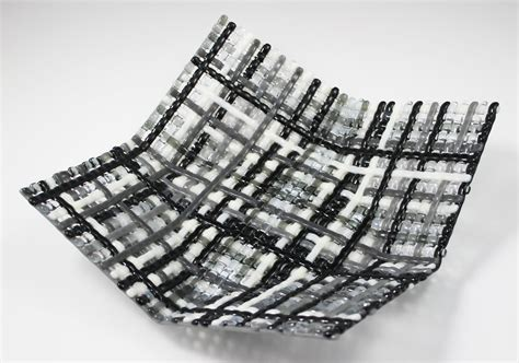 fused glass l shade mold 15 shades of gray woven origami basket by ed edwards