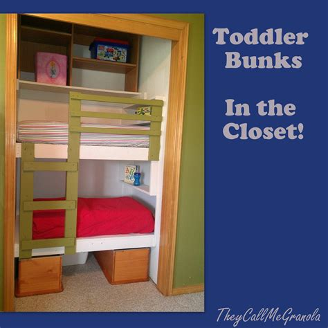 Toddler Bunk Beds Plans Diy Unique Built In Bunk Beds They Call Me Granola