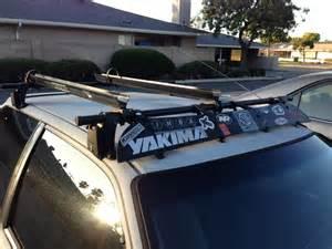 fs yakima roof rack with 2 bike mounts and key honda tech