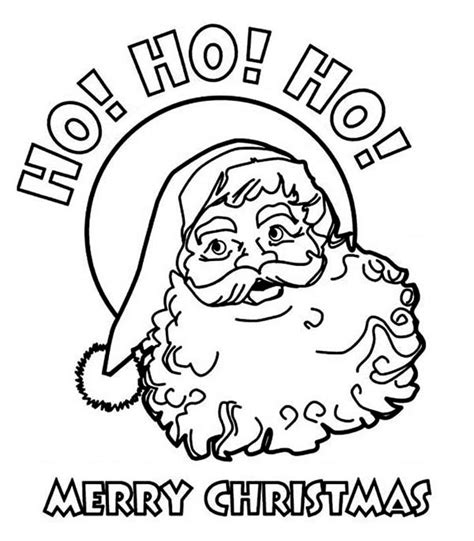 Merry Christmas Santa Coloring Pages Happy Holidays Merry Santa Coloring Pages