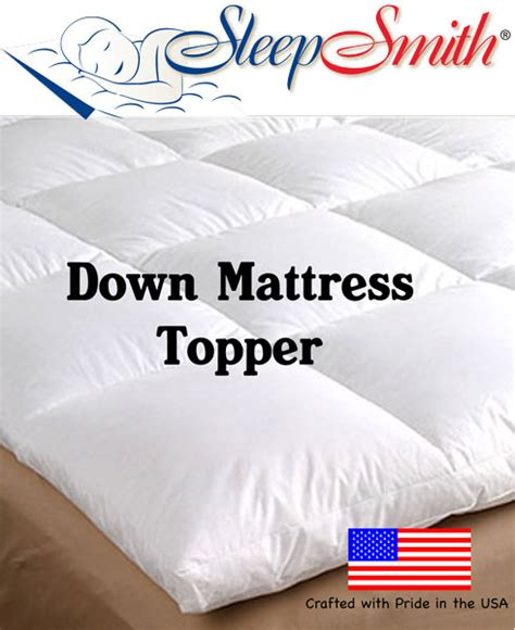 down bed topper soft duck feather and down bed thick mattress topper super