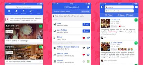 foursquare mobile app the 5 best ux mobile apps for your inspiration in 2017