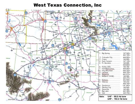 maps of west texas west texas connection