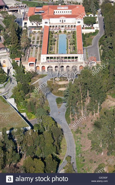 Nice J And J Garden Center #3: J-paul-getty-museum-at-the-getty-villa-aerial-view-malibu-los-angeles-C2C5GF.jpg