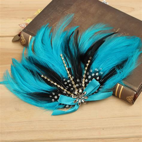 baby infant toddler headband peacock feather flower fashion baby infant peacock feather