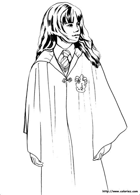 harry potter coloring pages crookshanks coloriage hermione granger