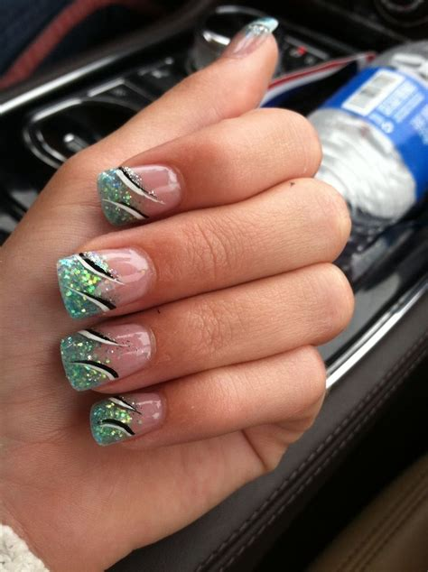 aqua acrylic nails aqua acrylic nails nails aqua nails and