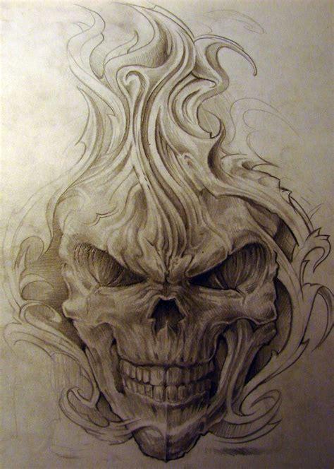 evil skull tattoos skulll by strangeris deviantart on deviantart