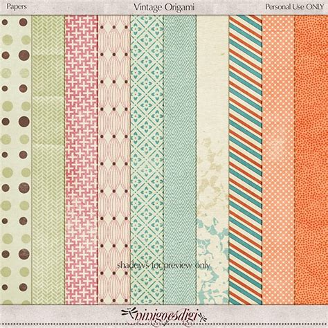 Origami Scrapbook - paper pack vintage origami scrapbook pages