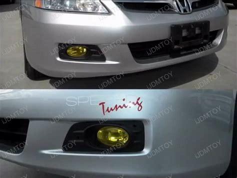 honda accord fog lights 2006 2007 honda accord 4dr sedan oem style jdm yellow