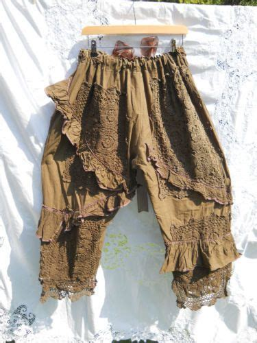 Shabby Chic Knickers by Coco Pearl Ruffle Lagenlook Bloomers Trousers Osfm