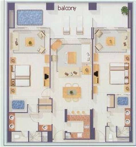 Master Bedroom Suites Floor Plans grand mayan two bedroom accommodations