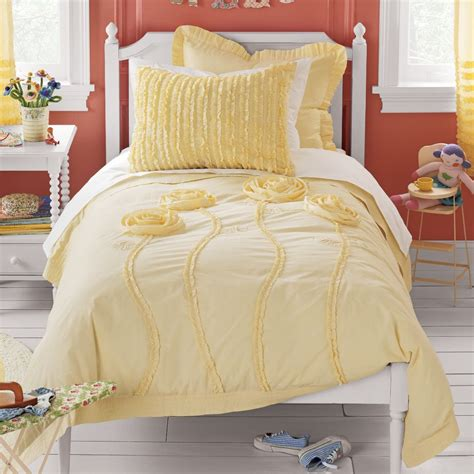 Pink And Yellow Comforter by Bee Mused Review Pink Floral Appliqued Comforter Cover