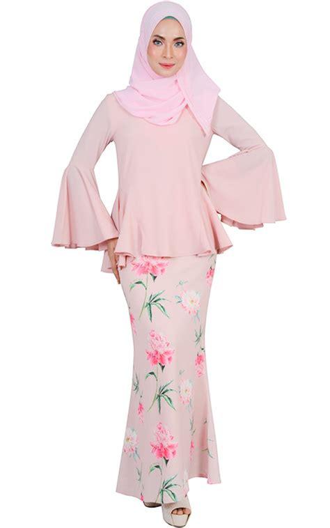 set baju kebaya pink nmsetayunda hasna modern baju kurung set blush baju kurung