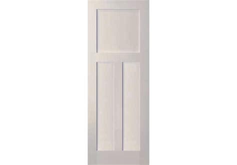 3 panel shaker interior door elsh760fr 3 panel white primed shaker door 20 minute