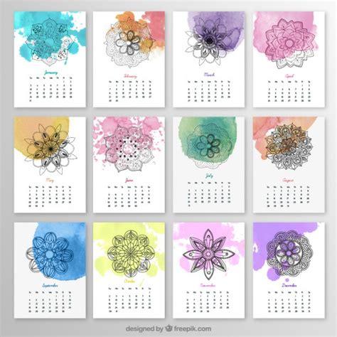 watercolor 2015 2016 printable calendar u create yearly calendar with mandalas and watercolor splashes