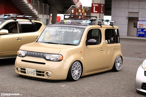 stanced nissan cube slammed society photo coverage part 1