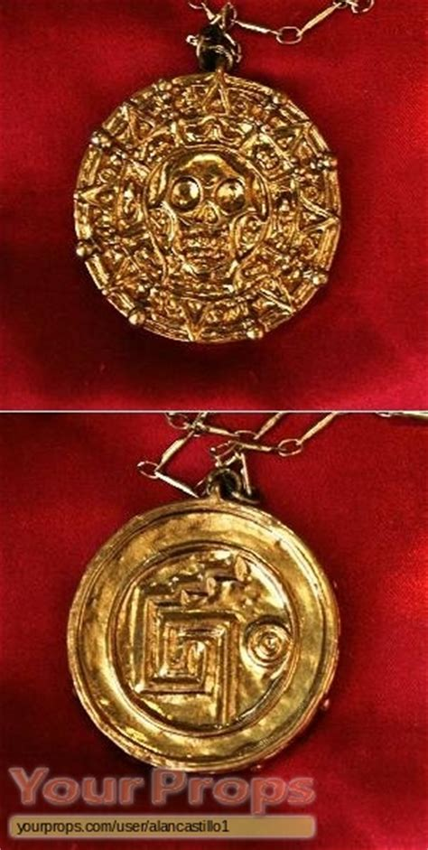 Aztec Replica Lucky Coin of the caribbean cursed aztec gold coin necklace master replicas