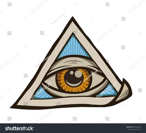 illuminati eye pyramid all seeing eye pyramid symbol freemason stock vector