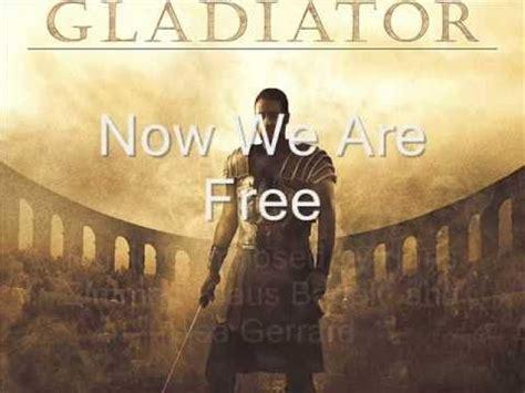gladiator soundtrack now we are free with lyric flv wmv now we are free lyrics english translation gladiator