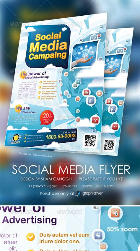 social flyer template modern social media flyer magazine ads by shamcanggih graphicriver