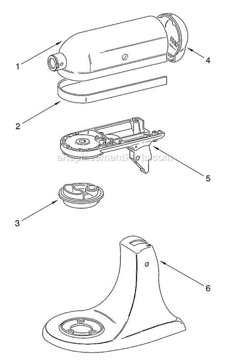 kitchenaid mixer parts diagram kitchenaid k45ssac0 parts list and diagram