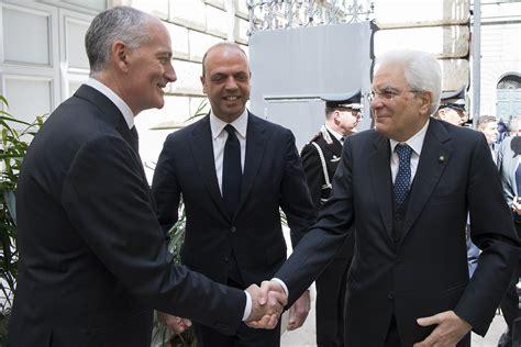 alfano ministro interno il presidente sergio mattarella con il ministro dell