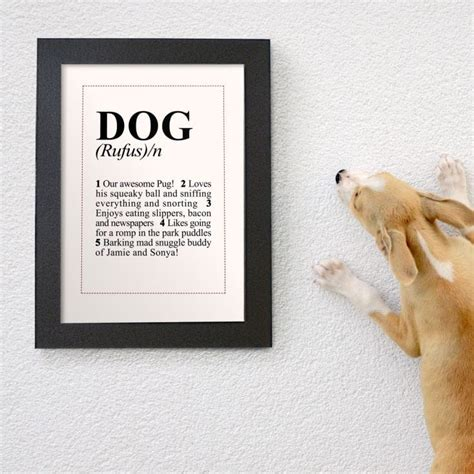 define dogged personalised dictionary definition poster find me a gift