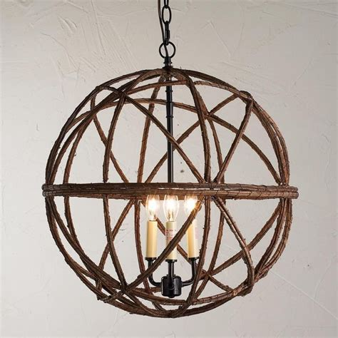Twig Chandeliers Twig Sphere Chandelier Or Pendant Light Available In 2 Colors Large