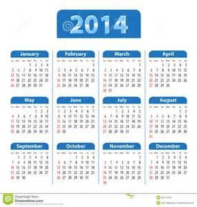 Dominica Calendrier 2018 Azul Do Calend 225 2014 Ilustra 231 227 O Do Vetor Imagem De