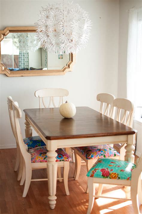 upholstery fabric for kitchen chairs a kitchen table to be thankful for a make over story