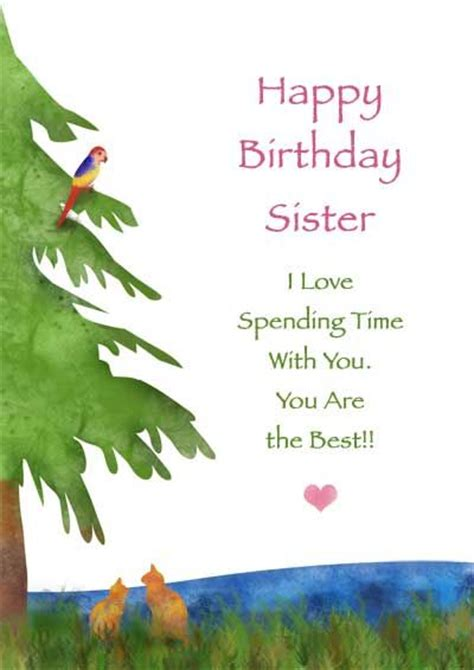 printable birthday cards for a sister sister birthday cards my free printable cards com