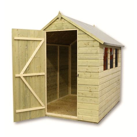 pressure treated tongue  groove apex shed