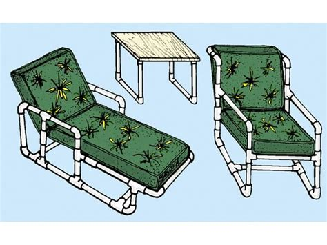 pvc chaise lounge plans pvc patio furniture make your own outdoor chairs tables