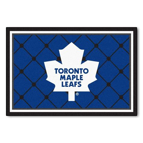 Area Rug Toronto Fanmats Toronto Maple Leafs 5 Ft X 8 Ft Area Rug 10448 The Home Depot