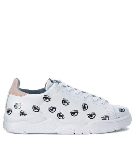 white leather sneaker chiara ferragni chiara ferragni roger white leather