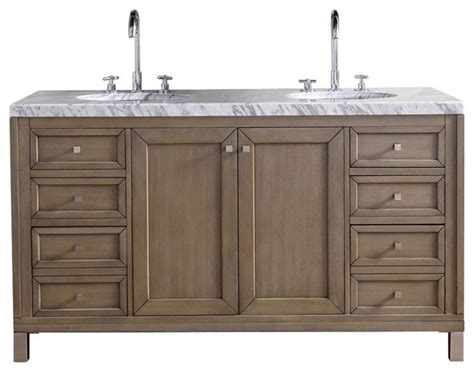 bathroom vanity chicago chicago 60 quot double vanity white washed walnut