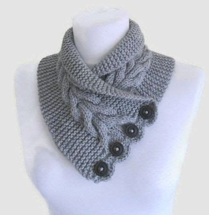 free knitting patterns neck warmers cowls free knitting pattern for gray cable neckwarmer and more