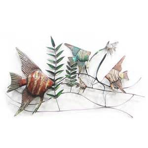 Metal Fish Wall Decor by Metal Wall Underwater Fish