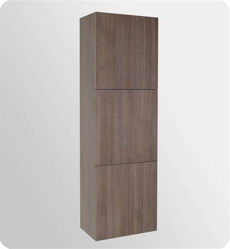 oak linen cabinet for bathrooms 17 75 quot fresca fst8090go gray oak bathroom linen cabinet