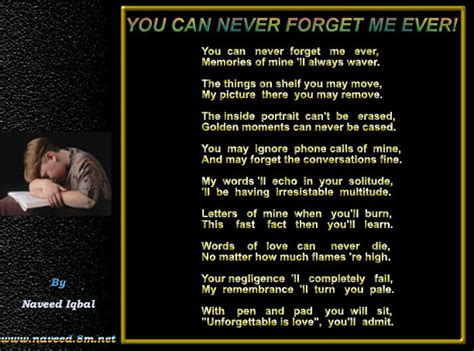Forget Me If You Can